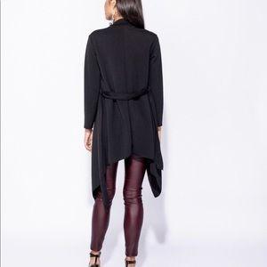 Sweaters - Black waterfall jacket